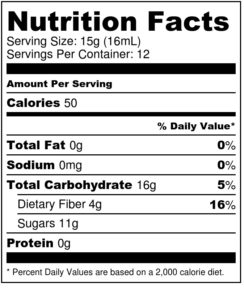 Vegan Honey Nutrition Facts